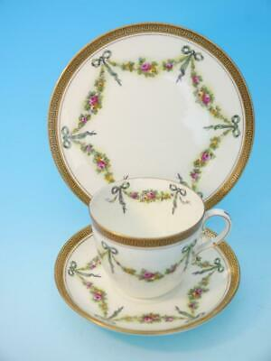 Collingwood Swags, Bows, Ribbons & Roses Trio, Like Crown Staffordshire Aynsley