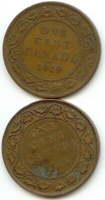 Canada 1919 1920 1 Cent Coin Canadian Large Penny Pennies 1c EXACT SET SHOWN