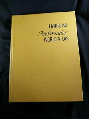 Vintage Hammond's Ambassador World Atlas, 1966 Hardcover Book