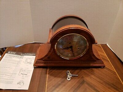 Howard Miller 630-202(630202) Barrett II Mantel Shelf Clock Yorkshire Oak W/Key