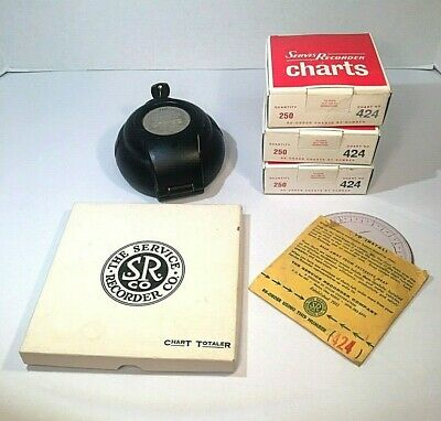 Vintage Servis Recorder ,Chart Totaler , and Charts
