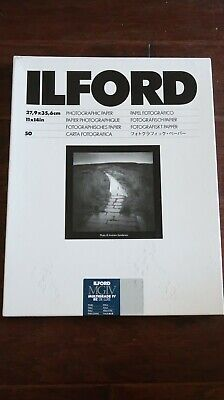 "Ilford 1771578 MGIV Multigrade IV RC De Lux Pearl Paper, 11"" x 14"" (50 Sheets)"