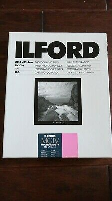 "Ilford 1770340 MGIV Multigrade IV RC De Luxe 8x10"" Glossy Paper, (100 Sheets)"