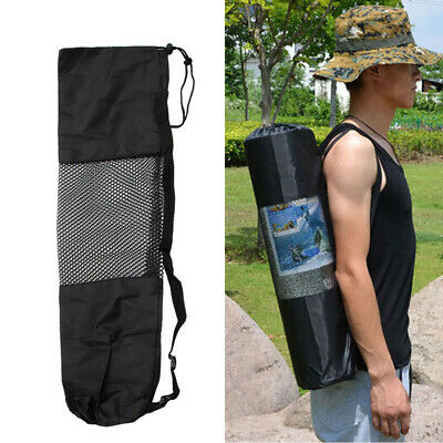 Adjustable Strap Nylon Yoga Pilates Mat Carrier Bag Mesh Center Case
