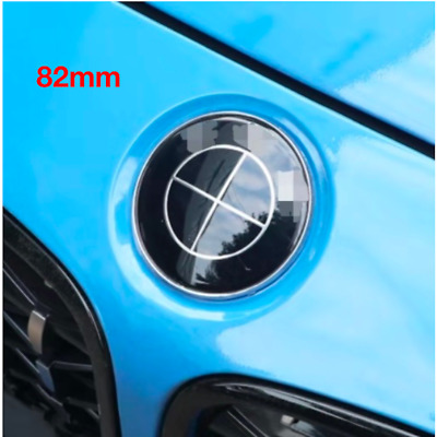 82mm BMW Front Bonnet Hood Emblem Badge Rear Trunk Logo Emblem Set 2