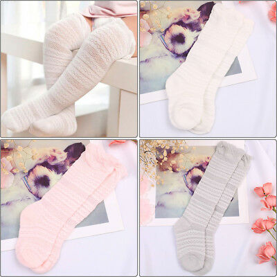 Toddler baby boys girls knee high lace long sock kids infant leg warmers sock HU