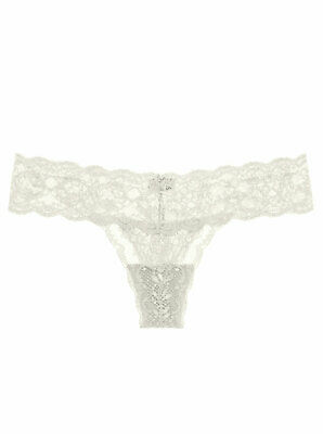 """Cosabella Never Say Never /""""Cutie/"""" LR Thong in Petra Gray Retail $26 One Size"""