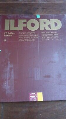"Ilford Multigrade FB Warmtone VC Enlarging Paper, Semi-Matte, 20x24"", 10 Sheets"