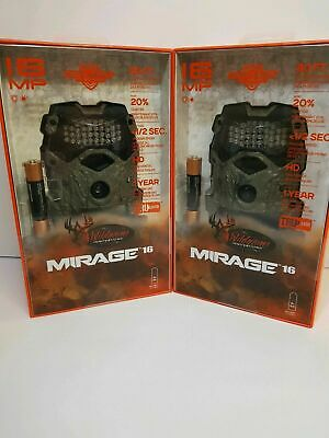 2 Pack Wildgame Innovations Mirage 16 Trubark Low Glow Infared Game Trail Camera