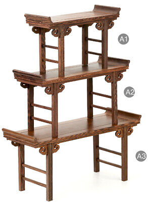 3PC Chinese Lute Table DISPLAY FOR VASE&ART-BONSAI SUISEKI-Talent