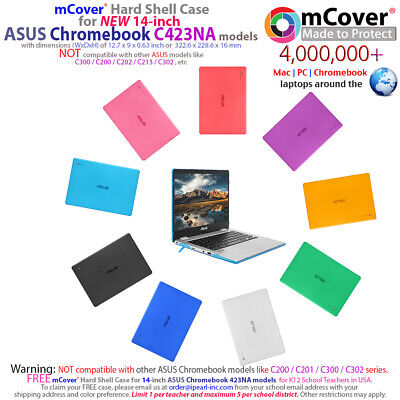 """NEW iPearl mCover® Hard Shell Case for 14"""" ASUS Chromebook C423NA model"""
