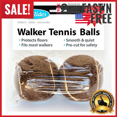 Ready To Use Tennis Balls For Walkers Pre Cut W/ Glides Floor Carpet Protection