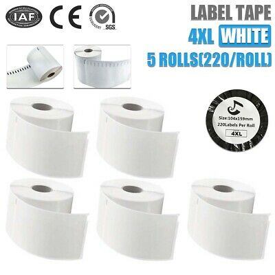 Smooth Convenient Strong Tags 104mmx159mm For Dymo 4XL Extra Large 5pcs Labels