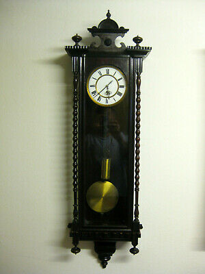 Antique German UTH ( J.-Paul Hellmuth ) Single Weight Vienna Wall Clock ca.1900.
