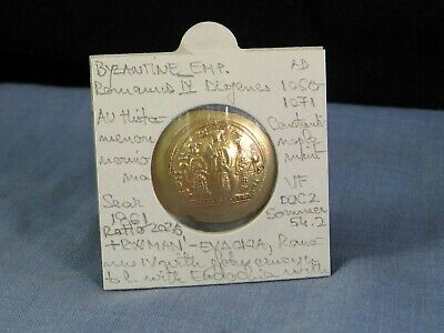 Ancient Byzantine Coin 1081 Romanus Iv Histamenon Gold Constantinople Mint Vf