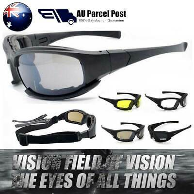 Daisy X7 Glasses Goggles Polarised Tactical Military 4LENS Motorcycle Sunglasses