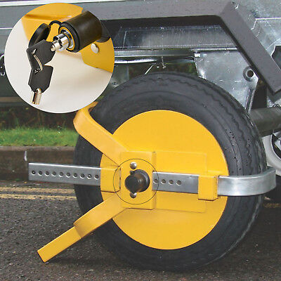 "New Heavy Duty 13""-15"" Steel Car Van Wheel Clamp Safety Lock for caravan Trailer"
