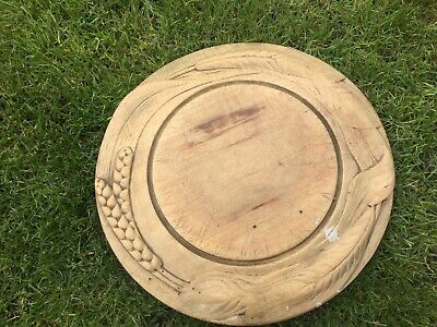 Lovely Antique Carved Wooden Wood Bread Board Vintage English Kitchenalia