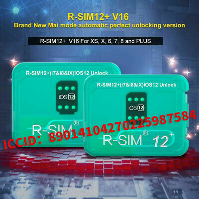 R-SIM12+ V16 Nano Unlock Card RSIM for iPhone X/XS/8/7/6 Plus 4G iOS 12.2 Lot