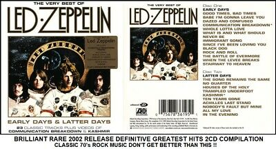 Led Zeppelin Very Best Definitive Greatest Hits Collection Classic 70's Rock 2CD