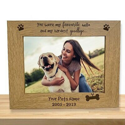 Personalised Dog Memorial Photo Frame Gift Engraved Pet Loss Keepsake Dog Owner