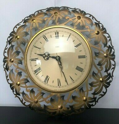 Vintage Retro Mid Century METAMEC Metal Wall Clock w/ Kienzle Movement