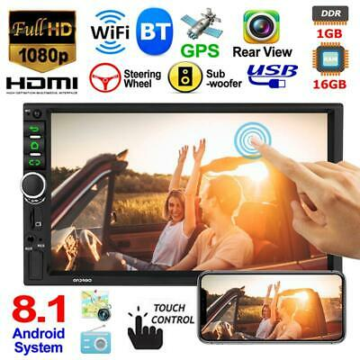 """Double 2DIN Android 8.1 16G WIFI GPS 7"""" Car Stereo MP5 Player FM Radio Bluetooth"""