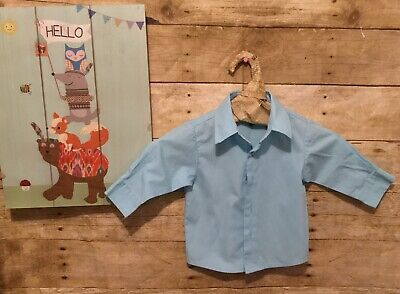 nautica baby boy 12 months long sleeve shirt preowned clean