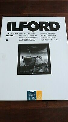 Ilford #1772339 Multigrade IV 82ft RC De Luxe, Sati,n 16x20in (50 Sheets)