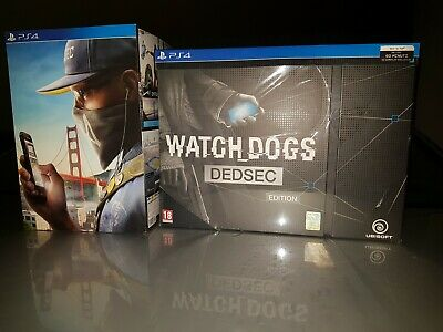 Ps4 WATCH DOGS DED SEC + SAN FRANCISCO EDITION NEW INCELLOFANATI N.2 BOX GIOCHI