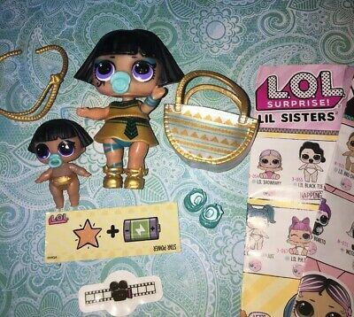 lol surprise dolls Confetti 🎉 Pharaoh Babe + Lil Sister Authentic Original