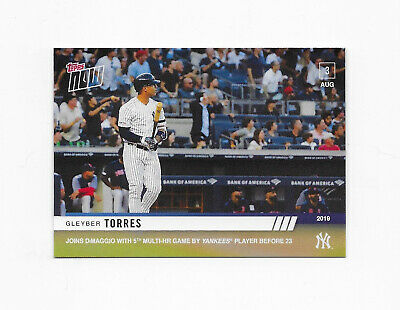 2019 Topps Now #626 Gleyber Torres SHORT PRINT New York Yankees DiMaggio /408