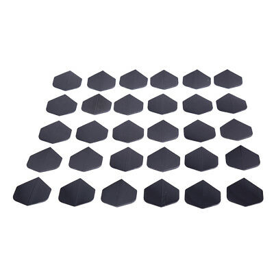 30 Pcs/lot High Quality Simple Pure Black Dart Flights for Outdoor Sports~GN