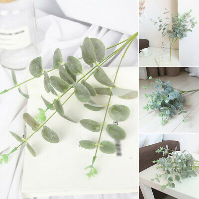 Artificial Fake Leaf Eucalyptus Green Plant Plastic Flowers Nordic Home Decor