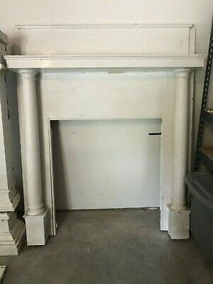 (2) Antique Wood Mantels, (2) Cast Iron Fireplace Surrounds, (1) Summer Cover