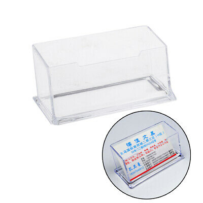 Plastic Business Card Holder Display Counter Desktop Gift Card Stand Clear~GN