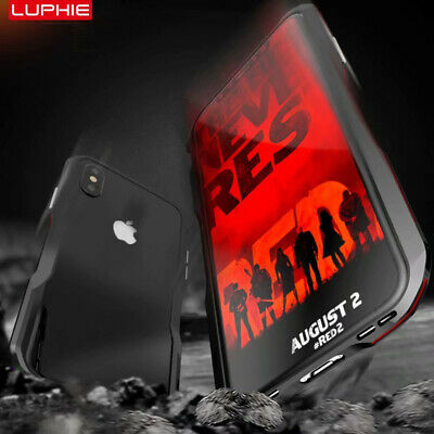 Luphie Aluminum Metal Bumper Frame Slim Case Cover For iPhone XS MAX XR 7 8 Plus