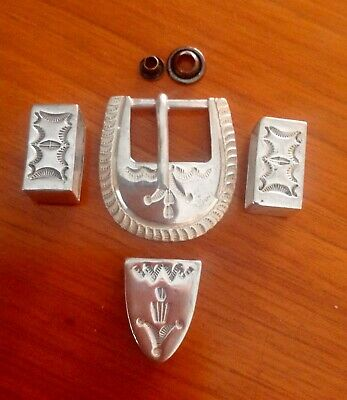 Sterling Silver American Indian Buckle  & Accessories - Unisex
