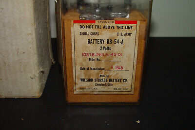 Vintage World War 2 Wwii Willard Battery 1945 Us Army Signal Corps Bb-54-A
