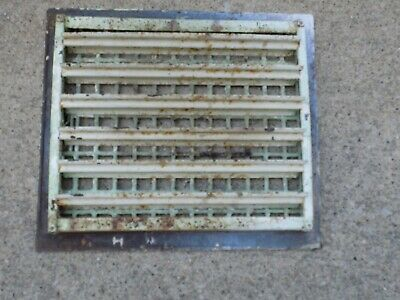 "Antique Vintage Cast Iron Heating Floor Grate Louver Register Vent 14""x 16"""
