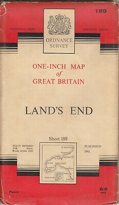 Ordnance Survey One Inch 7th Series Map 189 Land's End