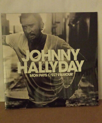 JOHNNY HALLYDAY MON PAYS C'EST L'AMOUR 33T VINYLE BLANC Collector  NEUF SCELLE