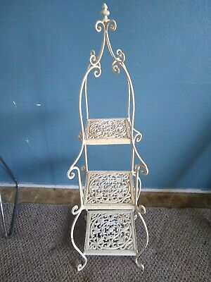 "Vintage French Victorian Tower Wrought Iron and Cast Iron pastry rack 48"" 4 foot"
