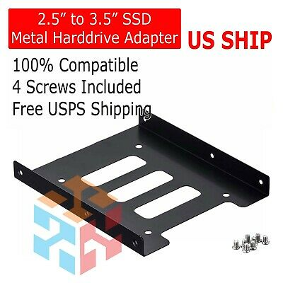 "5x Drive Bay Caddies SSD Hard Drive Bay 2.5/"" To 3.5/"" Tray Bracket HDD Adapter/_WK"