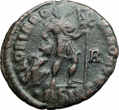 GRATIAN 367AD  Authentic Ancient Roman Coin CHRISTIAN CHI-RHO Labarum i80180