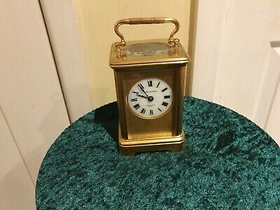 Antique French 8 day  brass, carriage clock, Golay, Fils & Stahl