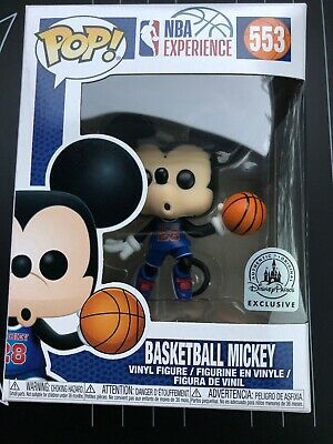Disney NBA Experience Mickey Mouse Basketball #28 Pop Vinyl Figure Funko In Hand