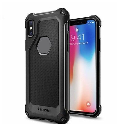Spigen® iPhone X 10 [Rugged Armor] Slim Shockproof Case TPU Protective Cover