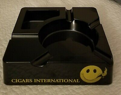 Cigars International Park Your Ash Here Melmac Cigar Ashtray Smiley Face