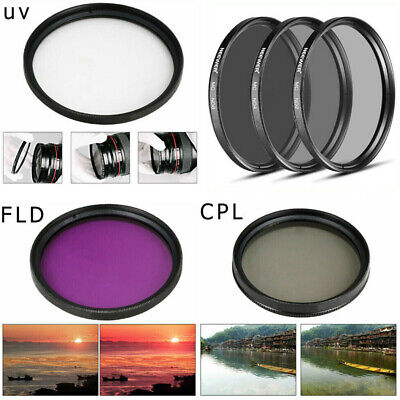 Neewer 55-82mm UV CPL FLD Lens Filter and ND2 ND4 ND8 Neutral Density Filter Kit